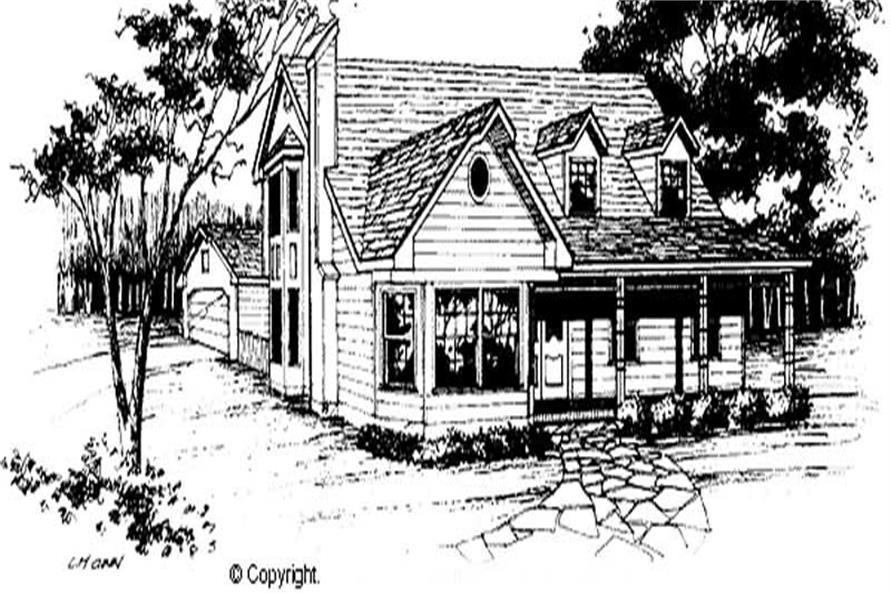 3-Bedroom, 1835 Sq Ft Cape Cod Home Plan - 174-1067 - Main Exterior