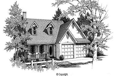 4-Bedroom, 1705 Sq Ft Cape Cod Home Plan - 174-1071 - Main Exterior