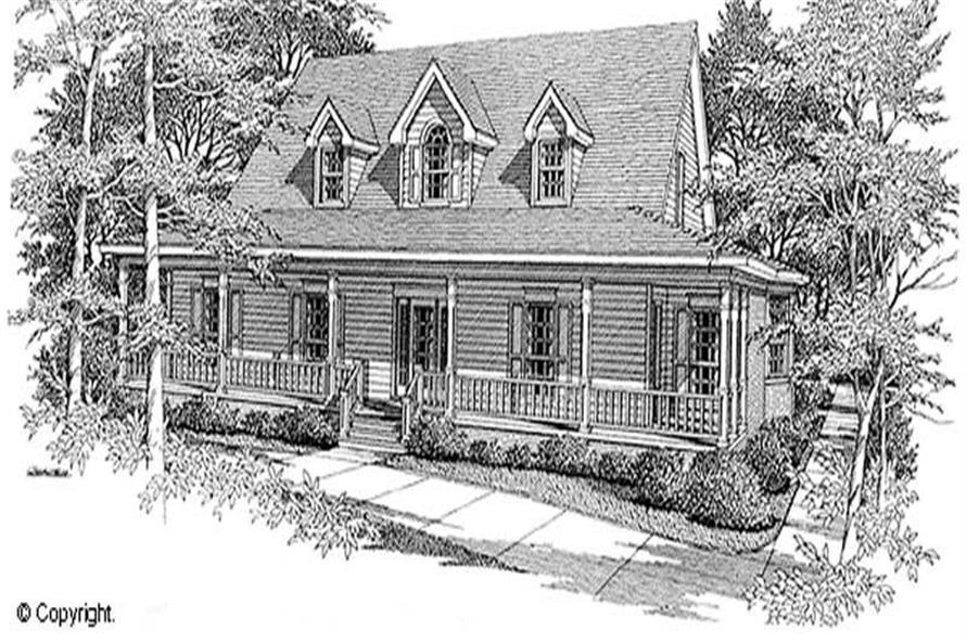 4-Bedroom, 3383 Sq Ft Cape Cod Home Plan - 174-1075 - Main Exterior