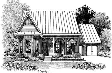 4-Bedroom, 2295 Sq Ft Cape Cod House Plan - 174-1079 - Front Exterior