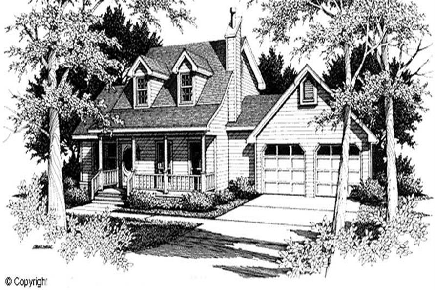 3-Bedroom, 1650 Sq Ft Cape Cod Home Plan - 174-1081 - Main Exterior