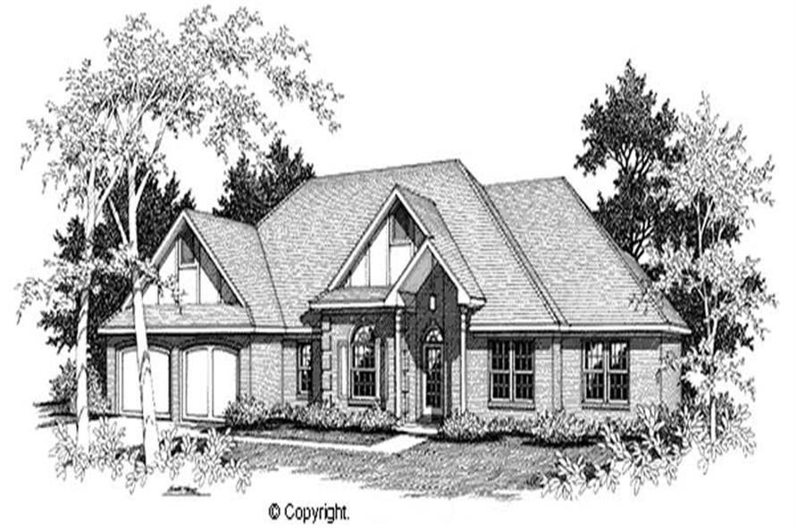 3-Bedroom, 2162 Sq Ft European House Plan - 174-1082 - Front Exterior