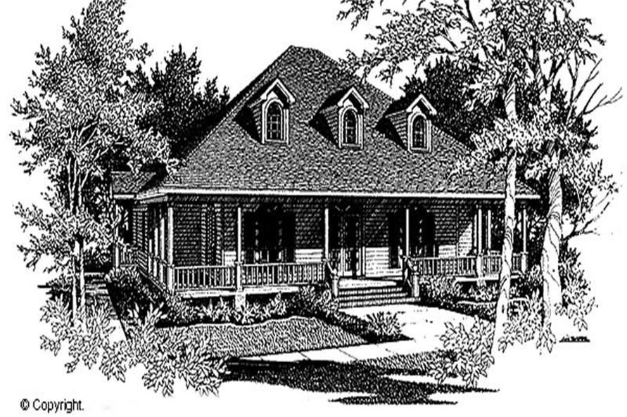 3-Bedroom, 3011 Sq Ft Cape Cod Home Plan - 174-1083 - Main Exterior