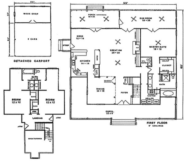 Clayton Manufactured Homes Floor Plans Single Wide 511166 in addition Small House Designs 2012001 as well 40x60 Pole Barn Plans Free besides 4 Bedroom Ranch House Plans further Building Garage Plans Nice Remodelling Window Fresh At Building Garage Plans. on carport addition plans