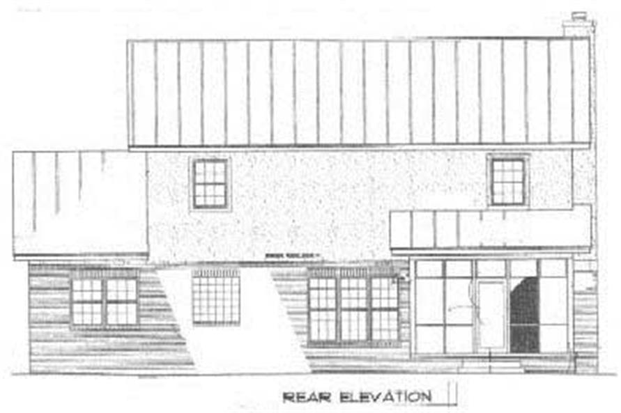 Home Plan Rear Elevation of this 3-Bedroom,1815 Sq Ft Plan -174-1085