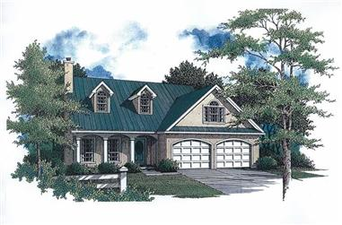 3-Bedroom, 1815 Sq Ft Cape Cod House Plan - 174-1085 - Front Exterior