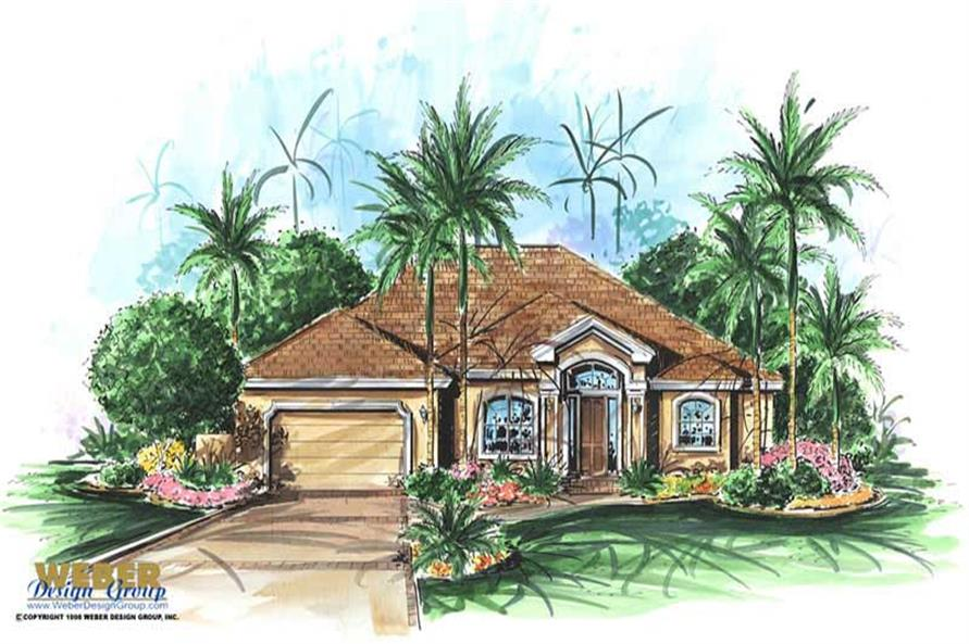 4-Bedroom, 2756 Sq Ft Contemporary Home Plan - 175-1000 - Main Exterior