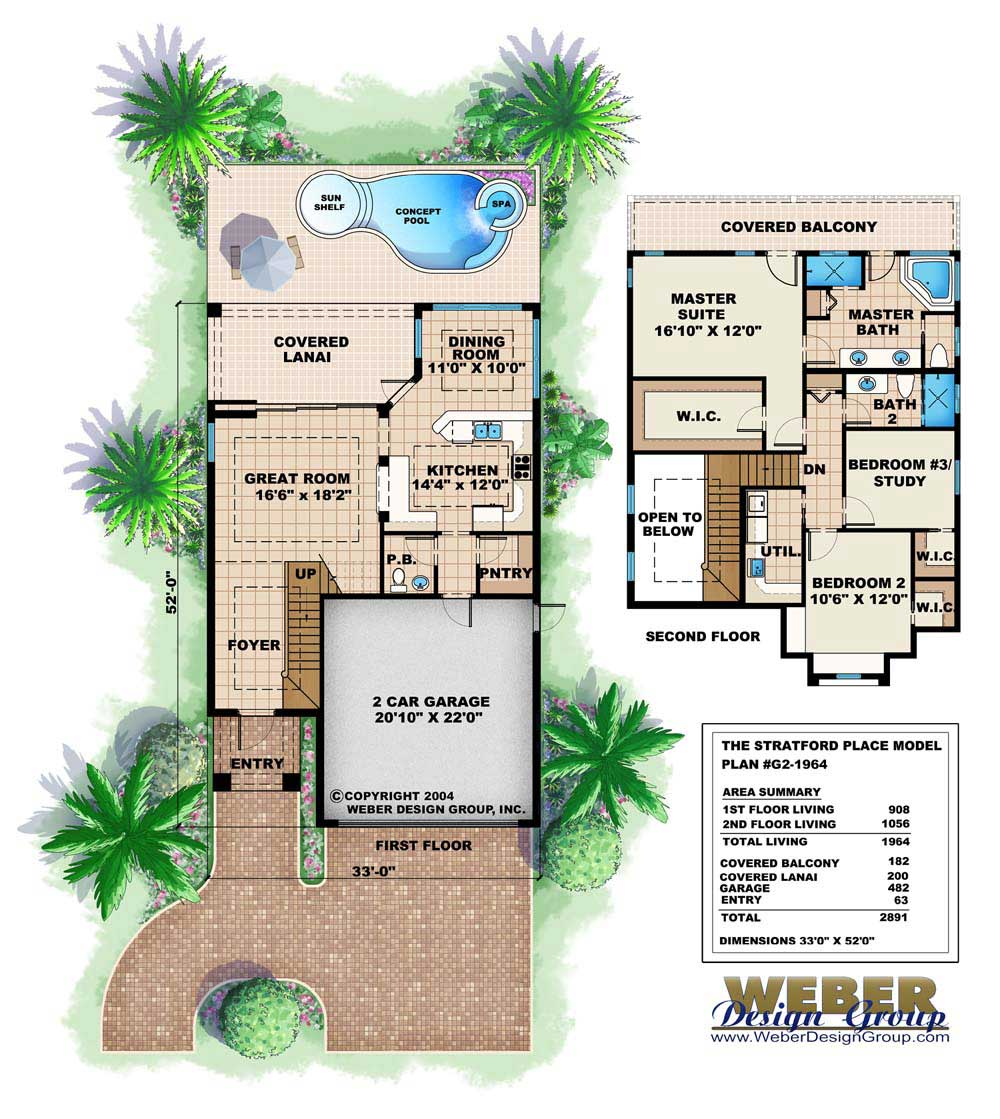 Mediterranean house plans stratford place model for Florida house plans for narrow lots