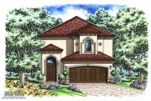 Mediterranean house plans stratford place model for Two story mediterranean house plans