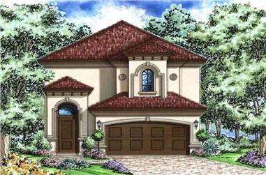 2-Bedroom, 2891 Sq Ft Florida Style Home Plan - 175-1001 - Main Exterior