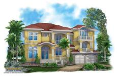 Mediterranean Home Plans color front elevation.