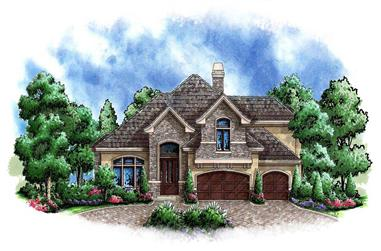 4-Bedroom, 4251 Sq Ft Country House Plan - 175-1006 - Front Exterior