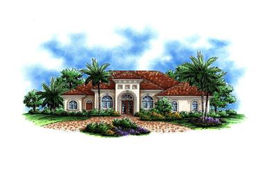 4-Bedroom, 3008 Sq Ft Luxury Home Plan - 175-1008 - Main Exterior