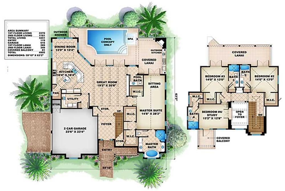 175-1011 house plan floor plans