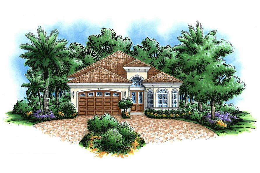 2-Bedroom, 2022 Sq Ft Florida Style Home Plan - 175-1014 - Main Exterior