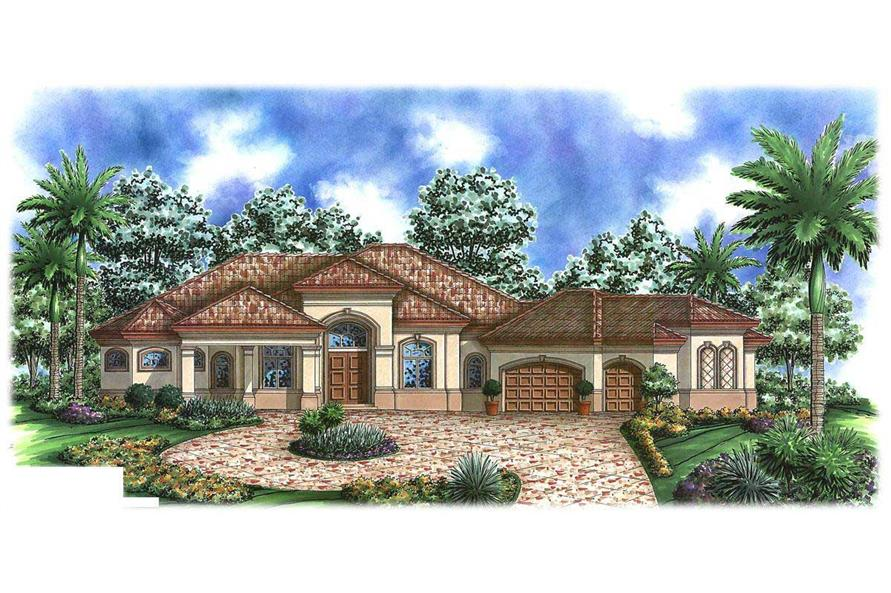 3-Bedroom, 4058 Sq Ft Luxury Home Plan - 175-1015 - Main Exterior
