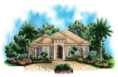 4-Bedroom, 2746 Sq Ft Florida Style House Plan - 175-1016 - Front Exterior