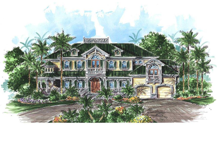 This is an artist's rendering of these Luxury Home Plans.