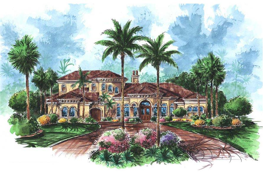 5-Bedroom, 4978 Sq Ft Luxury Home Plan - 175-1019 - Main Exterior