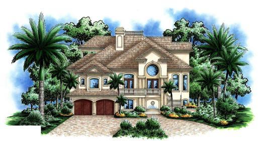 This image shows the charming style of these Coastal Houseplans.