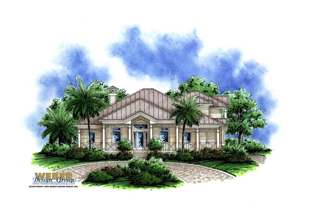Florida style house plan 4 bedrms 3 5 baths 3020 sq for House plans for florida homes