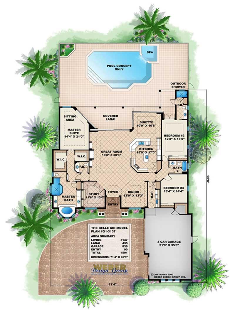 Coastal house plans home design wdgg1 3137 for Coastal floor plans