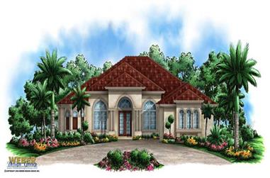 3-Bedroom, 3137 Sq Ft Coastal Home Plan - 175-1025 - Main Exterior