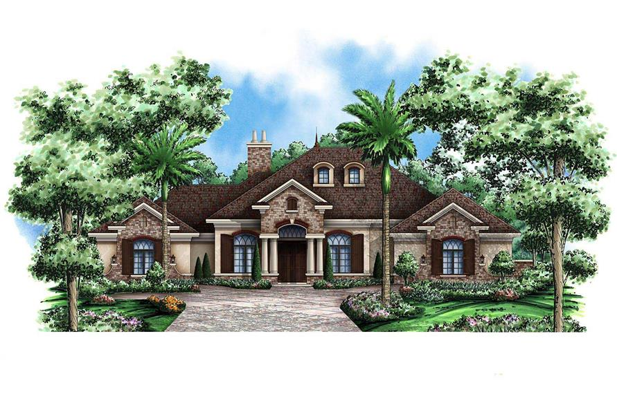 3-Bedroom, 3242 Sq Ft Country House Plan - 175-1026 - Front Exterior