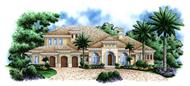 Luxury House Plans Monterro II color rendering.