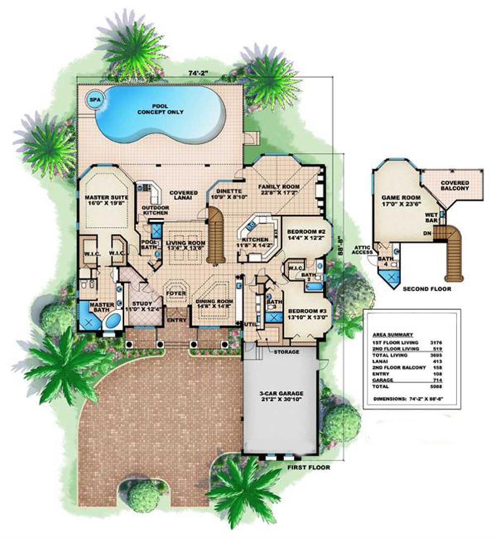 175-1032: Floor Plan Main Level