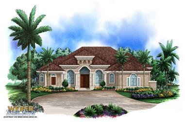 4-Bedroom, 3985 Sq Ft Coastal House Plan - 175-1038 - Front Exterior