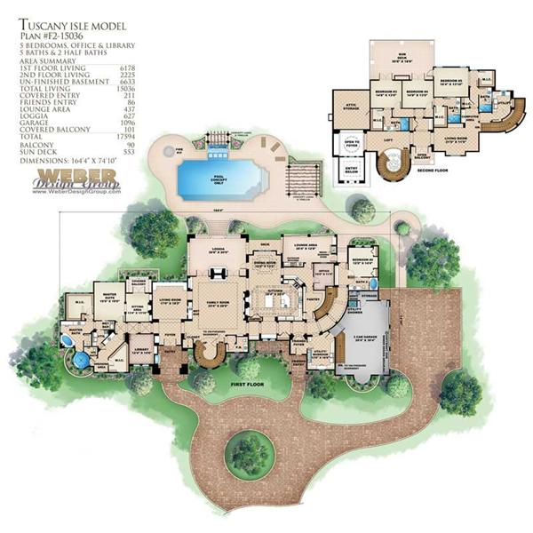 The gallery for tuscan house floor plans for Tuscany house plans