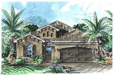 3-Bedroom, 1758 Sq Ft California Style House Plan - 175-1042 - Front Exterior