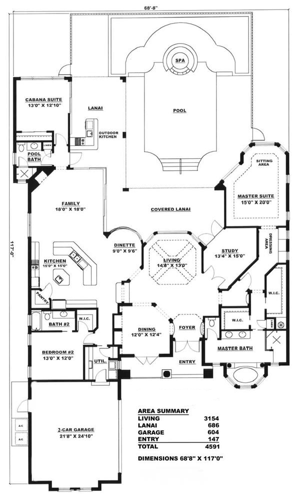 House Plan 175 1044 3 Bedroom 3154 Sq Ft Coastal Home