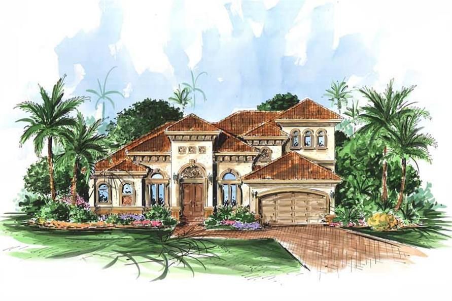 3-Bedroom, 2851 Sq Ft Coastal Home Plan - 175-1045 - Main Exterior