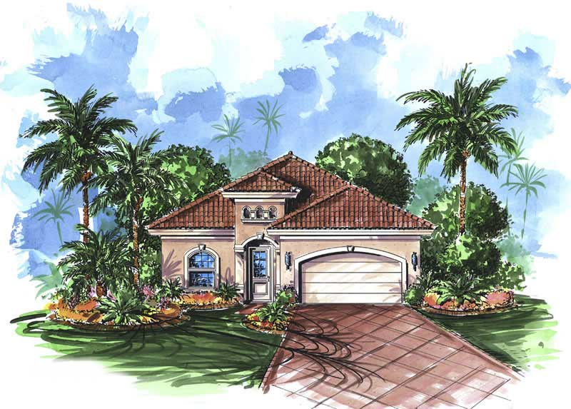 Mediterranean house plans home design trinidad 11498 for Mediterranean style house floor plans