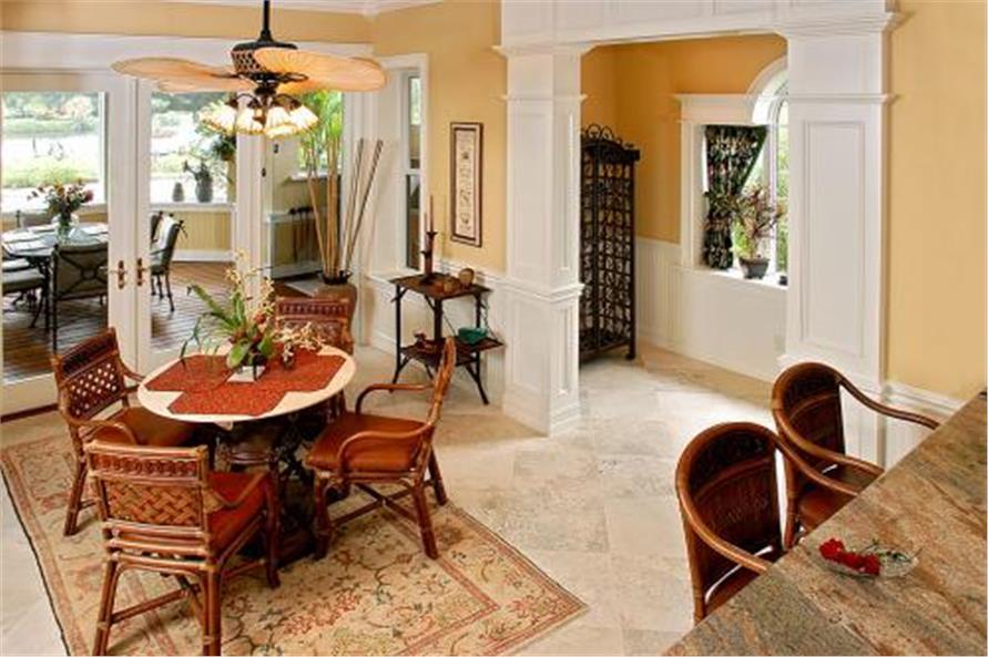 175-1050: Home Interior Photograph-Kitchen: Breakfast Nook