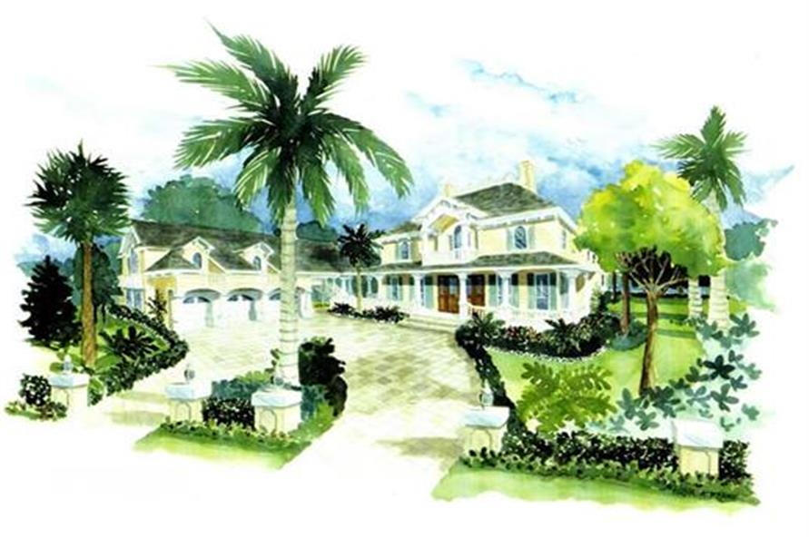 Home Plan Rendering of this 4-Bedroom,4696 Sq Ft Plan -175-1050