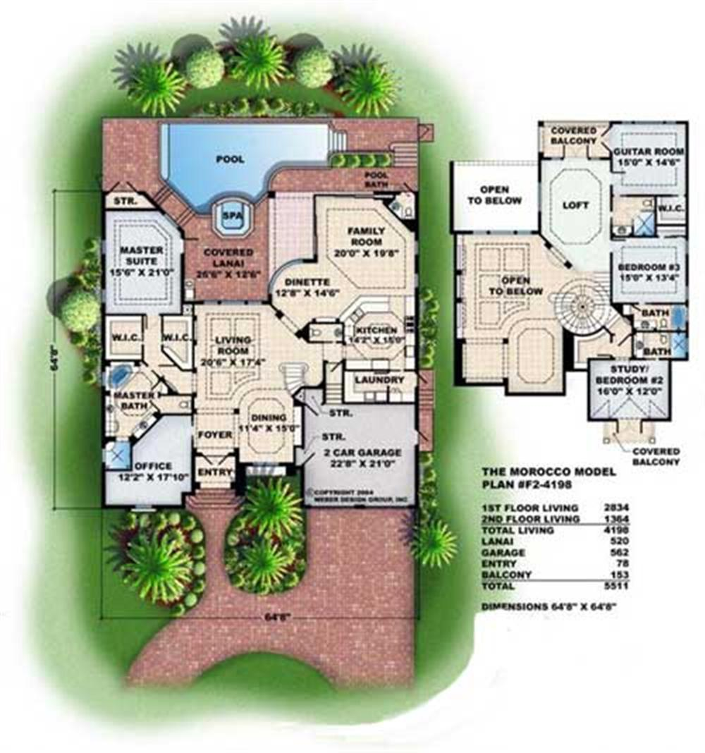 Floor Plans for this set of house plans.