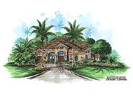 Mediterranean Home Plans color rendering.