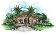 Mediterranean Home Plans color rendering.