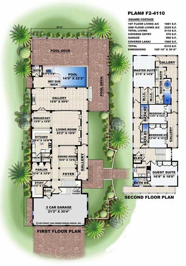 Florida Style In Law Suite Home With 4 Bedrooms 4110 Sq