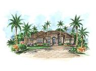 This image shows the Mediterranean style for this set of home plans.