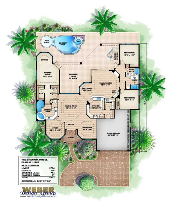 small florida style home plans