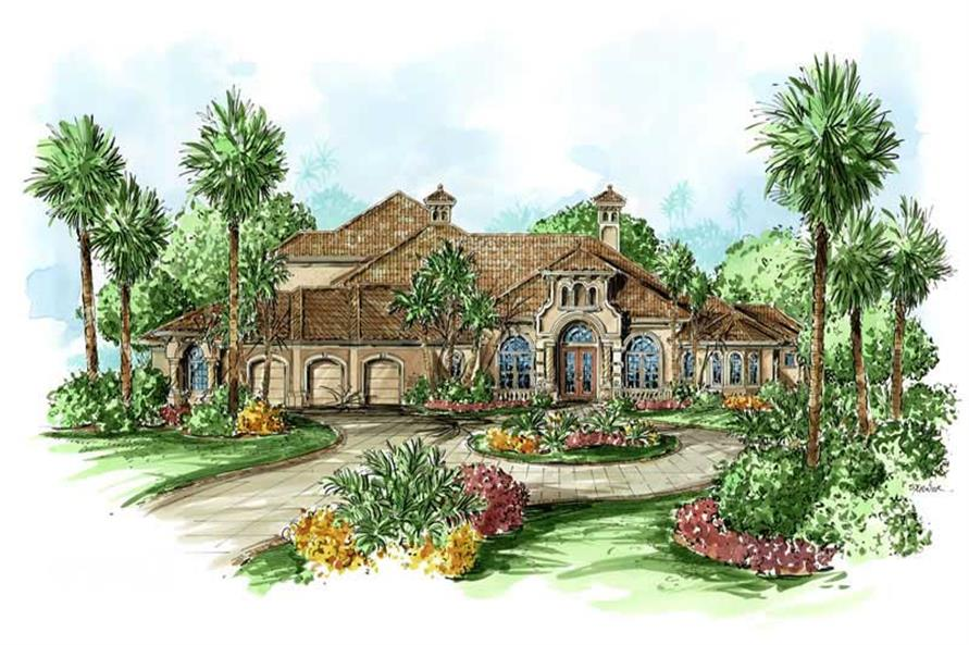 5-Bedroom, 4403 Sq Ft Coastal House Plan - 175-1058 - Front Exterior