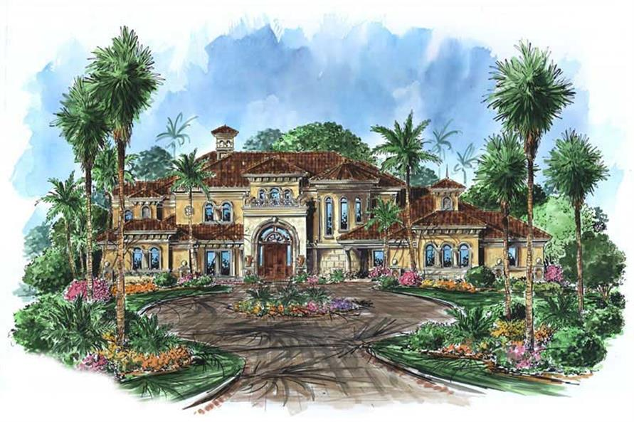 5-Bedroom, 8319 Sq Ft Coastal Home Plan - 175-1060 - Main Exterior