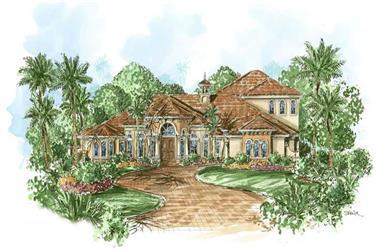 4-Bedroom, 4392 Sq Ft Coastal House Plan - 175-1062 - Front Exterior