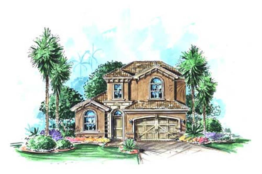3-Bedroom, 2324 Sq Ft California Style House Plan - 175-1063 - Front Exterior