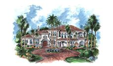 Luxury Home Plans color rendering.