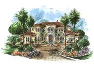 Luxury Houseplans color rendering.